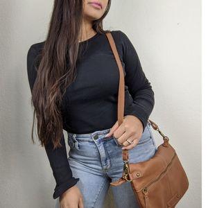 Lucky Brand | Leather Del Rey Foldover Crossbody